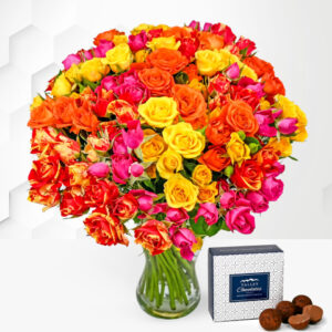 Spray Roses - Free Chocs - Flower Delivery - Flowers - Roses - Rose Bouquet - Birthday Flowers - Flowers By Post