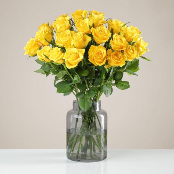 24 Fairtrade Yellow Roses